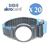 Akrocard Armband Packung mit 20 Stück -  Technologie NFC 1K (ISO 14443 A/B), 13,56 MHz - blaues Nylon - wasserdicht