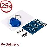 AZDelivery  25 x RFID Kit RC522 mit Reader, Chip und Card für Arduino und Raspberry Pi mit gratis eBook!