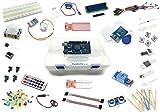 Lernset für Arduino - 'MEGA 8' mit MEGA2560 R3, Grundausstattung + Relais +IR-FB +Feuchtigkeitssensoren +Schrittmotor +RFID + Deutsche Anleitung - Funduino Kit 'M3FTMR'