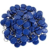 UHPPOTE Nähe 125KHz RFID EM ID Karte Etikett Token Schlüsselanhänger Nur Lesen Farbe Blau (100er Pack)