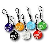 7 X NFC Tags |  NXP Chip NTAG213  | gemischte Farben | 144 Byte Speicherkapazität | runden hängen | elegantes Design und Hohe Scankraft | wasserdicht