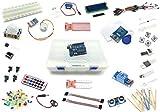 Arduino Lernset 'UNO 8' mit UNO R3, Grundausstattung + Relais +IR-FB +Feuchtigkeitssensoren +Schrittmotor +RFID + Deutsche Anleitung - Funduino Kit 'U3FTMR'