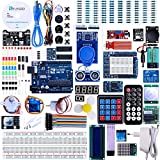 ELEGOO UNOR3 Projekt Baukasten Das Vollständige Ultimate Starter Kit mit Deutsch Tutorial, UNOR3 Mikrocontroller und viel Zubehör (mehr als 200 Teilen)