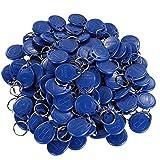 UHPPOTE EM4100 EM4102 125 kHz RFID Proximity ID-Tag-Token-Schlüsselanhänger Schlüsselanhänger nur lesen, 100 Stück blau
