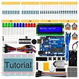 Freenove Super Starter Kit with R3 Board (Compatible with Arduino), 139 Pages Detailed Tutorial, 158 Items, 25 Projects, Solderless Breadboard