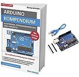 AZDelivery Großes Arduino Kompendium Buch mit gratis Mikrocontroller Board ATmega328P, ATmega16U2, mit USB-Kabel