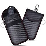 2 STK Keyless Go Schutz Autoschlüssel Hülle, Keyless Go Schutz Autoschlüssel Tasche, schlüsseltasche Autoschlüssel RFID Schlüsseletui Funkschlüssel Abschirmung für Autoschlüssel Safe