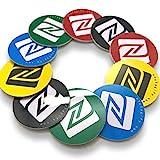 10 x NFC Tags | NXP Chip NTAG215 | 504 Bytes Speicherkapazität | Runde Aufkleber und Gemischte Farben | Hartes PVC und starker 3M-Aufkleber | Hohe Scankraft | Gleicher Chip wie Tagmo Amiibo