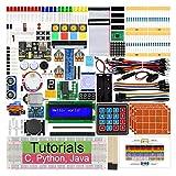 Freenove Ultimate Starter Kit für Raspberry Pi 4 B 3 B+, 434 Seiten Ausführliche Anleitungen, Python C Java, 223 Elemente, 57 Projekte, Lernen Sie Elektronik und Programmierung, Lötfreies Steckbrett