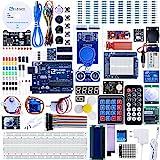 ELEGOO UNO R3 Ultimate Starter Kit, Kompatibel mit Arduino IDE Vollständigster Elektronik Projekt Baukasten mit deutschem Tutorial, UNO R3 Mikrocontroller Board und Zubehör (mehr als 200 Teile)
