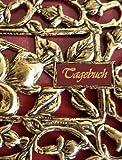 TageBuch - Red Ornament: Genug Platz für dein Leben - fast DIN A4, Diary, Notizbuch, liniert